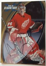2002-03 Manny Legace Auto Autographed Card Detroit Red Wings Signature #139
