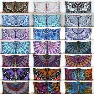 40 Pcs. Wholesale Lot 16x16 Inch Indian Cotton Home Decorative Cushion Covers