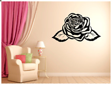 "Abstract Rose WALL ART VINYL DECAL STICKER 37""x22"" CHOICE OF COLOR"
