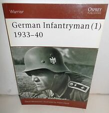 BOOK OSPREY Warrior #59 German Infantryman (1) 1933-40 1st Ed 2002