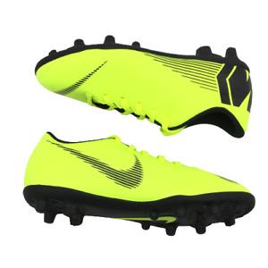Nike JR Mercurial Vapor 12 Club GS MG Soccer Cleats Volt and Black Kids 4Y NWOB