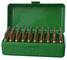 MTM PLASTIC AMMO BOXES (2) GREEN 50 Round 223 / 5.56 / MORE - FREE SHIPPING