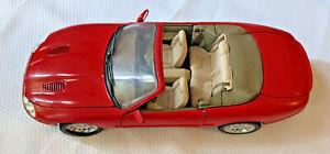 Vintage Maisto 1998 Jaguar Red XK Convertible 1:18 Diecast Model Car