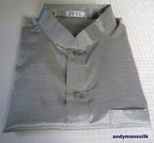 Silk Blend Grandad Loose Fit Casual Shirts & Tops for Men