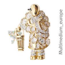 Brosche Japan er Strass Gold beschichtet brooch Korb Blumen Figur e pin brooch