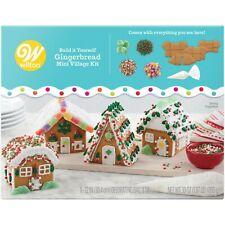 Wilton Build it Yourself Holiday Fun Gingerbread Mini Village Decorating Kit 4 H