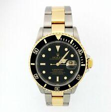 Rolex 16613 18k Gold SS Submariner New Style Bracelet F Serial For Bigger man