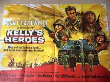 Kelly's Heroes 1970 Original UK Quad Movie Poster Film Clint Eastwood 1st Print