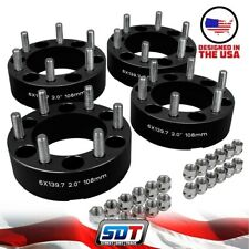"(4) 2"" Wheel Spacers 6 x 5.5"" BP For Chevy Colorado GMC Canyon Hummer H3 4x4"