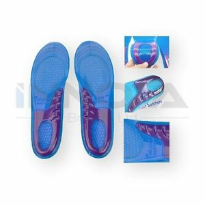 New Orthotic Arch Support Massaging Gel Insoles Inserts Size 6-9 High Quality