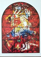 """Marc Chagall Jerusalem Windows + Lithograph of  """"Judah"""" + After the Vitral"""