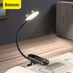 Baseus Flexible USB Dimmable Touch LED Reading Light Bed Table Desk Clip Lamp