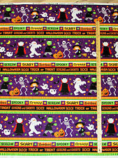 Happy Haunting Halloween Scream! Sampler Northcott Fabric by the 1/2 Yard #20588