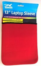 "Red with Black neoprone 13"" laptop sleeve"