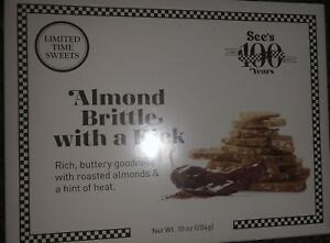 See's Candies Almond Brittle with a Kick Limited Centennial Item Delicious