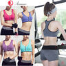 Women Front Zip Sports Bra Yoga Padded Seamless Workout Crop Top Racerback