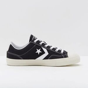 Converse Star Player Ox Black White Suede Mens Trainers Casual Active
