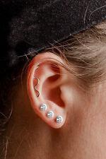 New Punk Wavy Cartilage Earring Cartilage Piercing Ear Climber Ear Stud Threader