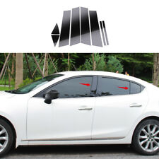 Mirror Effect Window Center Pillar Cover Trim  fit for Mazda3 Axela M3 2014-2018