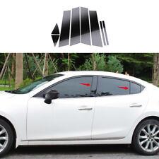For Mazda3 Axela M3 2014-2018 Mirror Effect Window Center Pillar Cover Trim Kit