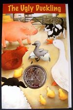 RARE!! THE UGLY DUCKLING COIN STORY BOOK PRES PACK 2005 ISLE OF MAN CUPRO NICKEL