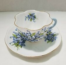 SHELLEY DAINTY SHAPE FORGET ME NOT CUP SAUCER