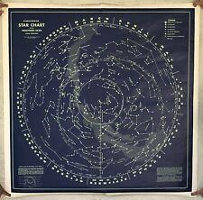 Rare Vintage T.N. Hubbard Scientific Co. Universal Star/Constellation Chart
