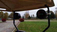 "RXV Golf Cart Speakers Pods EZ GO Radio Enclosures with 1 1/4"" Clamps"