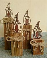 16cm 3D Effekt Flamme ROST Kerze zum aufdrehen Advent Kerze Basteln Deko