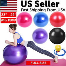 "23"" 29"" Yoga Ball Exercise Anti Burst Fitness Balance Workout Stability W/ Pump"