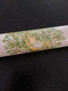 New Sealed Vtg Roll Hallmark Baby Shower Gift Wrap Paper Wrapping Flowers Baby