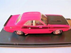 Premium X PRD 408J 1970 Dodge Challenger T/A 2-Door Hardtop Pink/Black 1:43 New