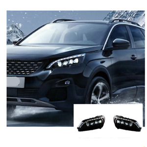 For Peugeot 3008 LED Headlights LED DRL 2017-2019 Replace OEM Halogen Sequential