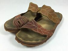 EL NATURALISTA $180 Slides  Leather Artisan Sandals Sz 8.5 - 9 39