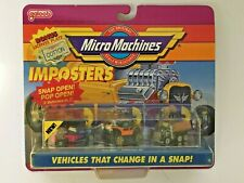 MICRO MACHINES 1991 IMPOSTERS #4 FORD WILLYS PICKUP PETERBILT MILITARY TRUCK NEW