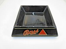 Bass Beer Ceramic Ashtray English Pub Made by Wade PDM England Square Black