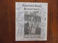 1980 Monmouth College Men's Basketball Program(26 Signed/TERRY GLASGOW/IVY CLARK