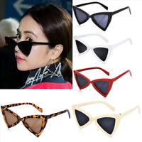 Women Fashion Vintage Triangle Cat Eye Sunglasses Retro Anti-UV Eyewear Glasses