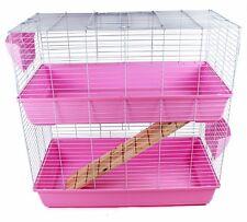 Un enclos/cage pour Lapin (intérieure) disponible en bleu, Rose, et Noir.