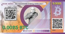 Prepaid BITCOIN gift card  - 0.0025 BTC