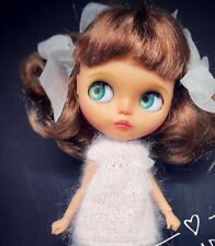 Ooak Custom Blythe Doll Factory Base Hand Carved And Painted