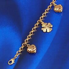 18k  Gold Filled  Women's Fashion Charmed Bracelet - 190*5mm