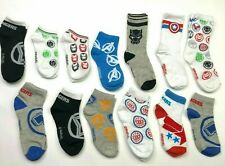 CAPTAIN AMERICA 6.5-8 BOYS PAIR OF ANKLE SOCKS NWT FREE SHIPPING