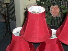 "Chandelier Lamp Shades Burgundy Set of 6, Softback Bell 3""x6""x5"" Clip on"