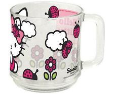 HELLO KITTY Glas Tasse Kinder Geschirr aus Glas  NEU F2-12