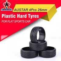 4x AUSTAR Flat Speed Medium Grain Drift Tires 26mm For 1/10 TAMIYA HPI RC Car