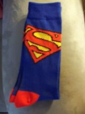 ~~~ Superman,DC Comics Socks,Blue with Red Detail, New