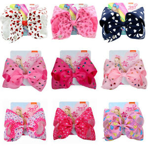 8 inch JOJO SIWA pink love hair bows with Alligator clip girls kids gift bowknot