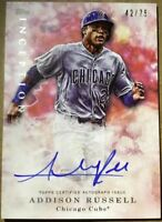 2017 Topps Inception Addison Russell /75 AUTO Card #BSA-ARU! Chicago Cubs '16 WS
