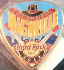 Hard Rock Cafe NASHVILLE 2012 POSTCARD Series Guitar Pick PIN Post Card #68023
